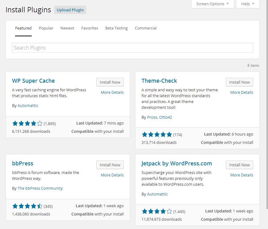 Add Plugin Screen in WordPress 4.0