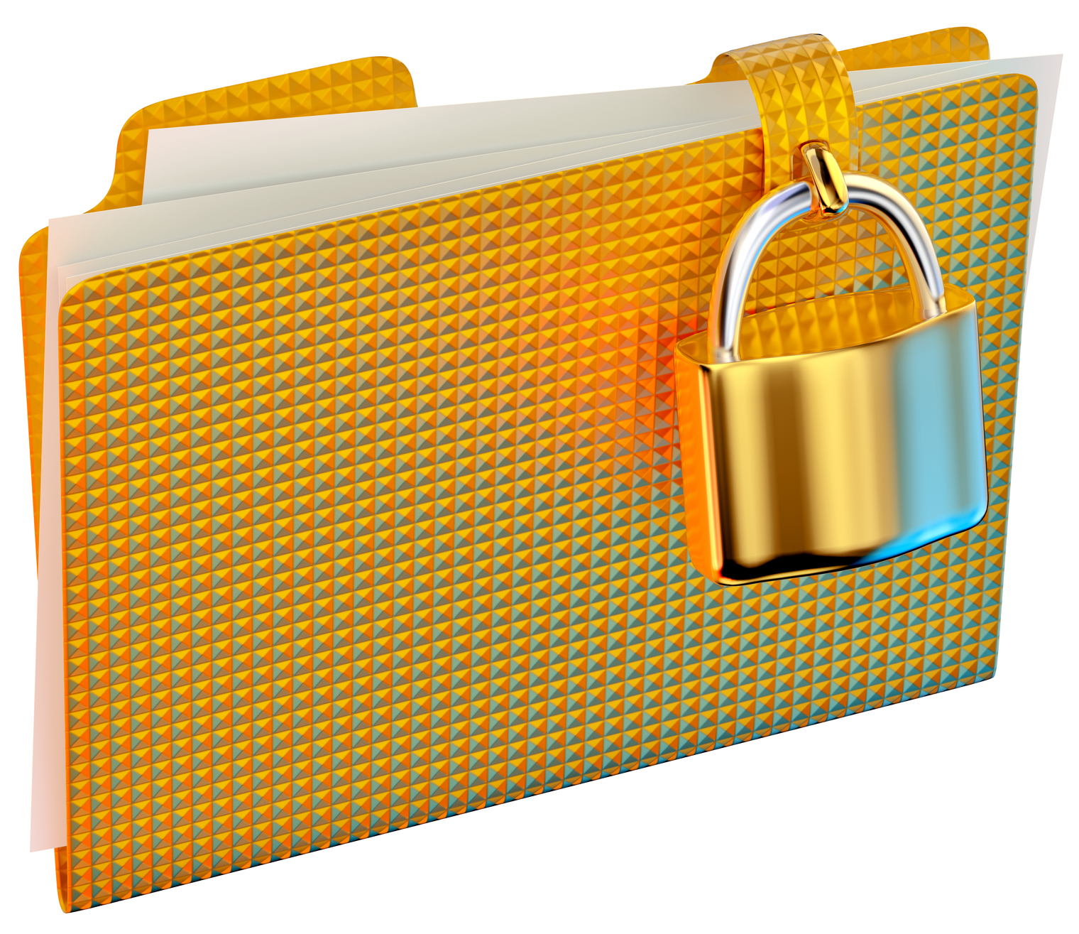 File Folder with a Padlock on it